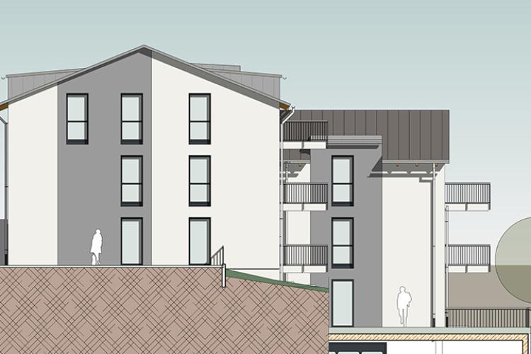 Neubau eines Mehrfamilienhauses mit 9 Wohnungen