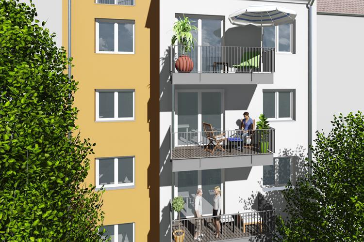 Neubau eines Mehrfamilienhauses - 6 Wohnungen