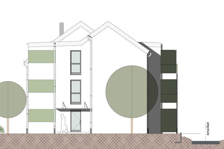 Neubau Wohngebäude mit 14 Apartments