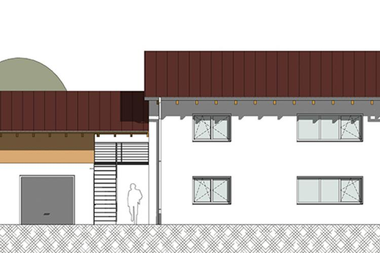 Neubau eines Zweifamilienhauses in Unterrüsselbach